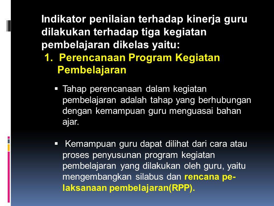 1. Perencanaan Program Kegiatan Pembelajaran