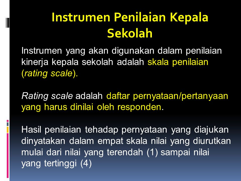 Instrumen Penilaian Kepala Sekolah