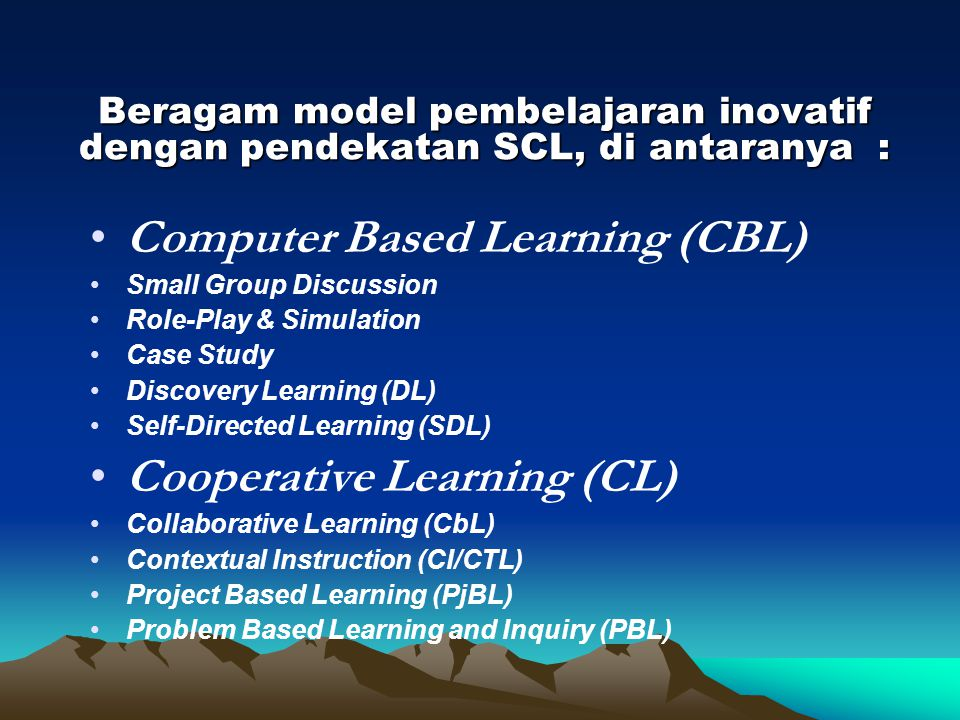 Computer Based Learning (CBL)