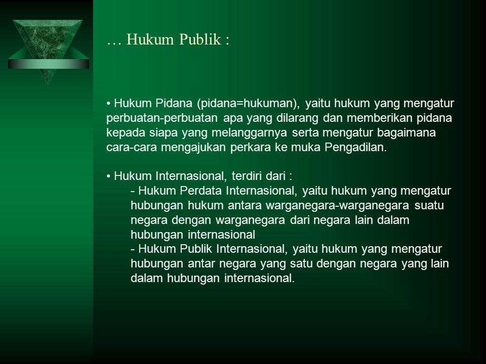 … Hukum Publik :