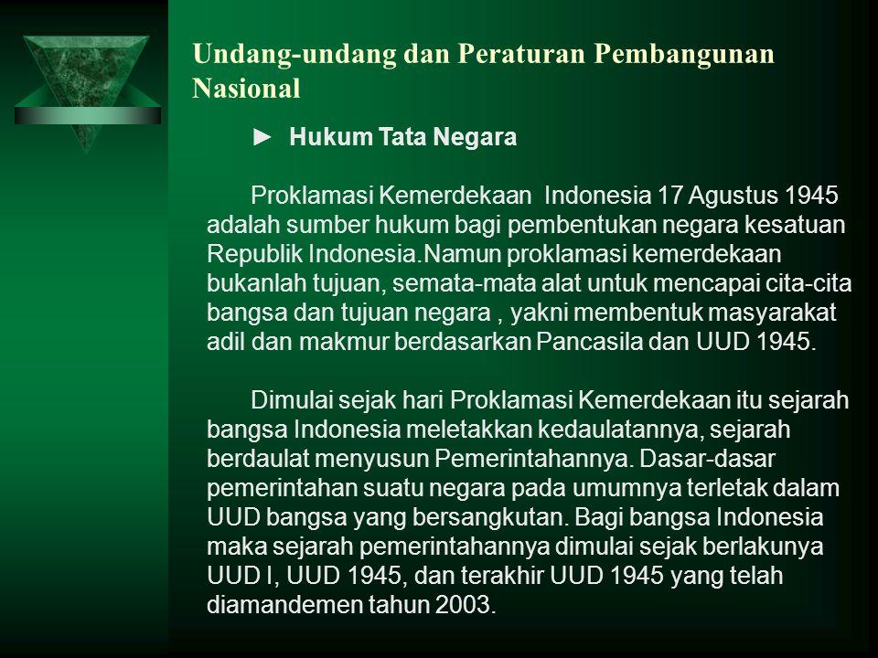 Undang-undang dan Peraturan Pembangunan Nasional