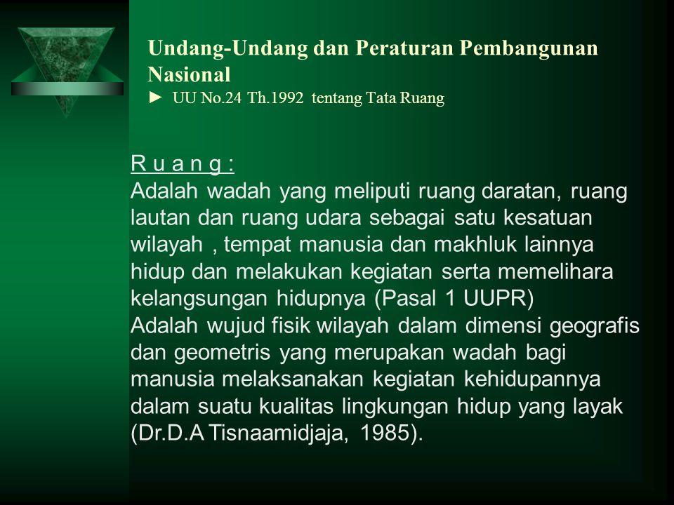 Undang-Undang dan Peraturan Pembangunan Nasional ► UU No. 24 Th