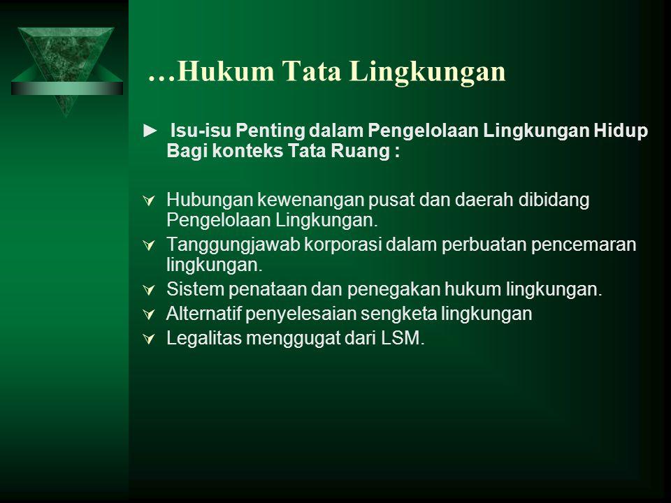 …Hukum Tata Lingkungan