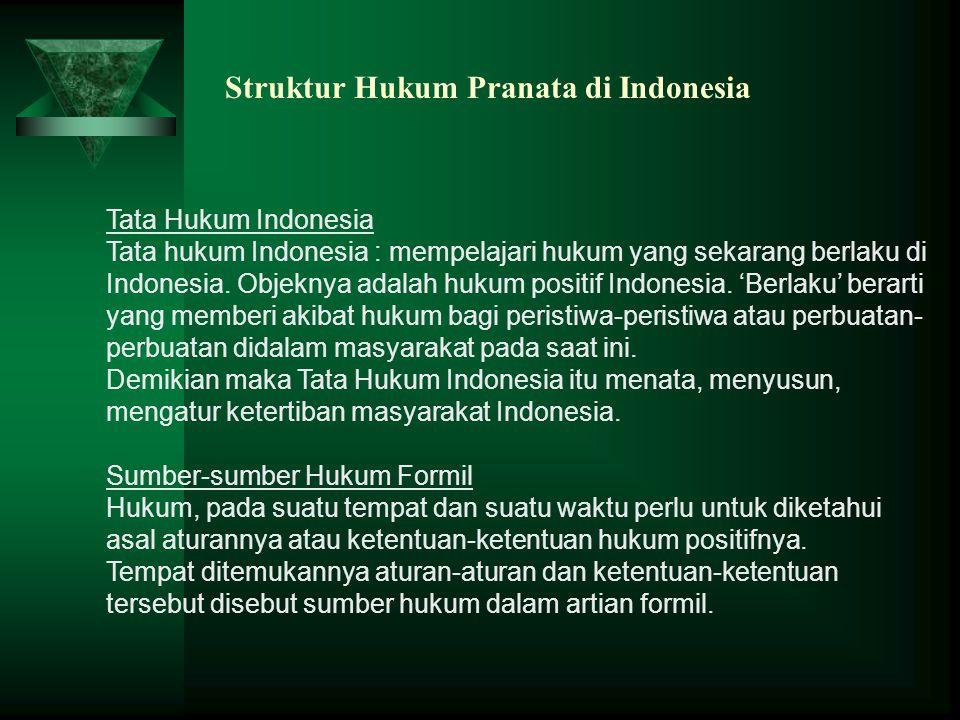 Struktur Hukum Pranata di Indonesia
