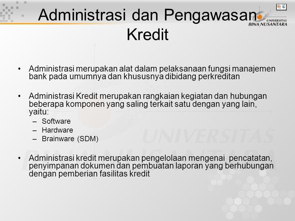 Administrasi dan Pengawasan Kredit