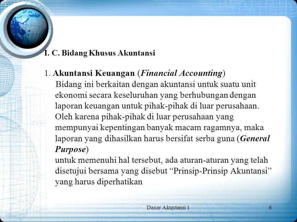 I. C. Bidang Khusus Akuntansi 1