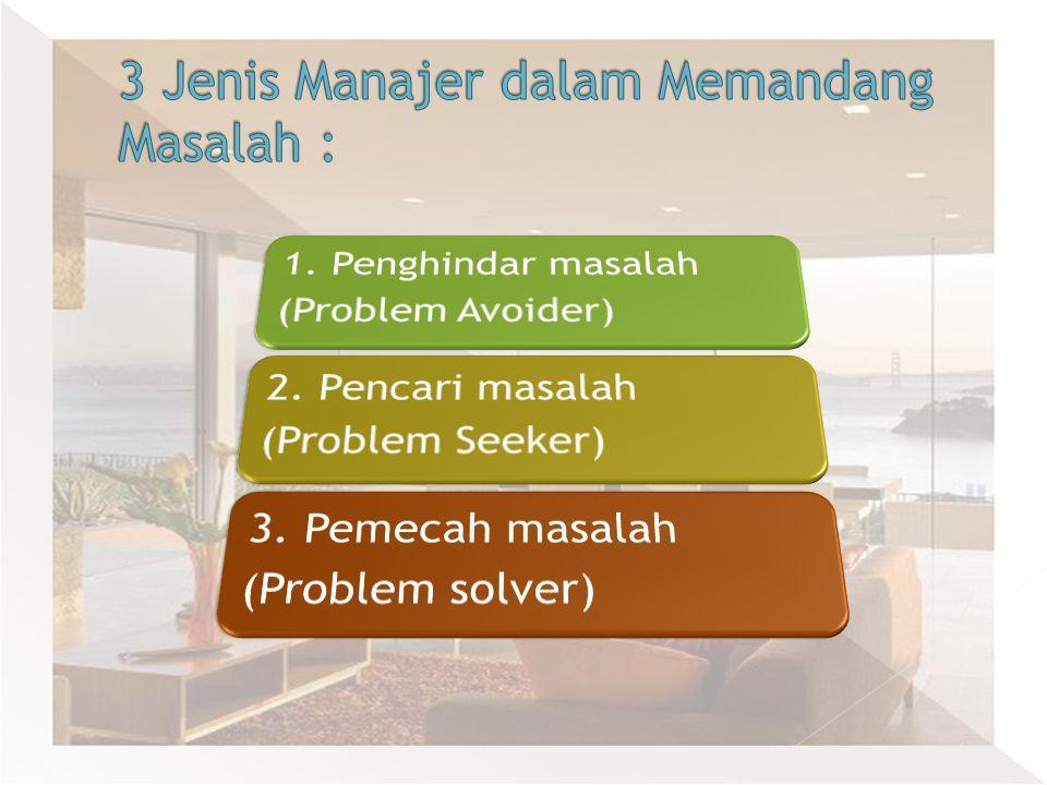 3 Jenis Manajer dalam Memandang Masalah :