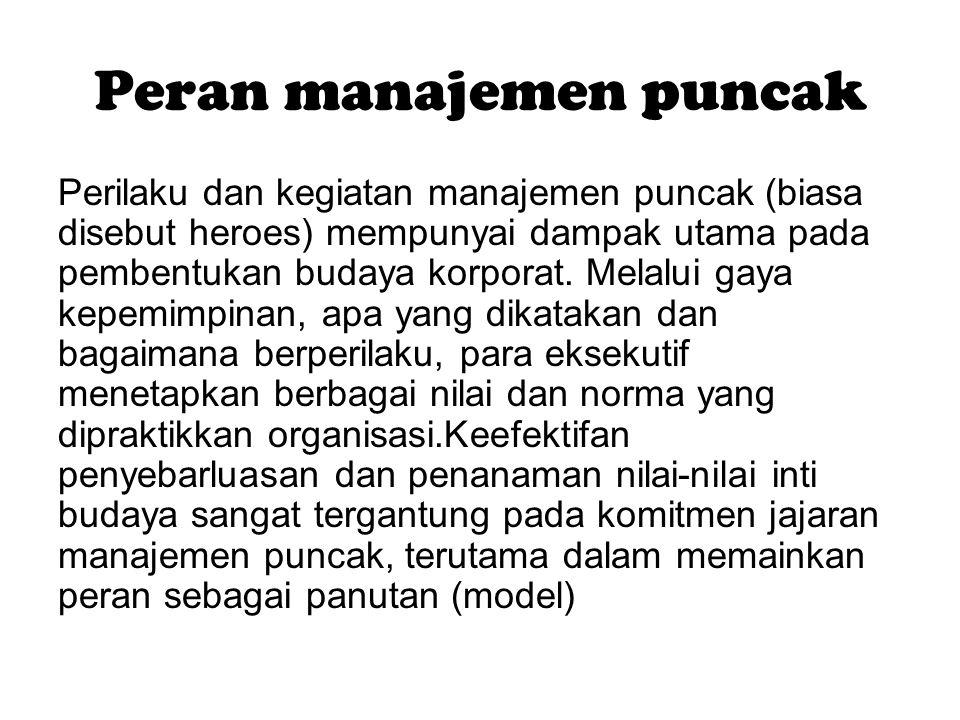 Peran manajemen puncak