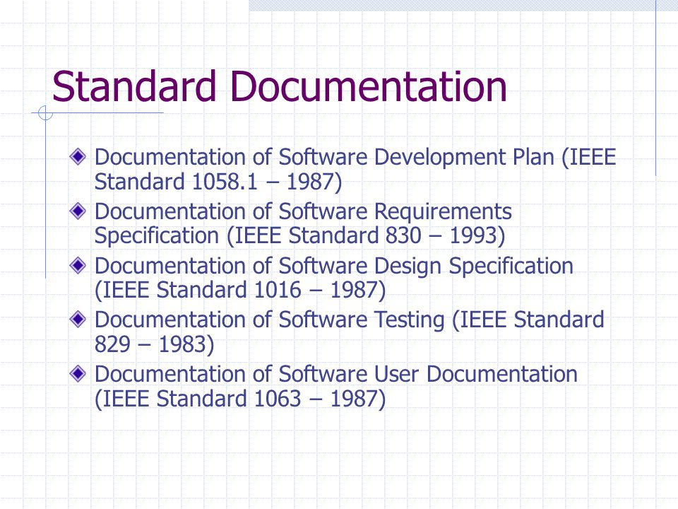 Standard Documentation