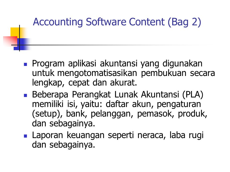 Accounting Software Content (Bag 2)