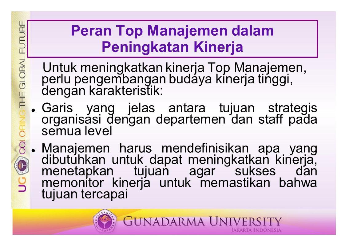 Peran Top Manajemen dalam Peningkatan Kinerja