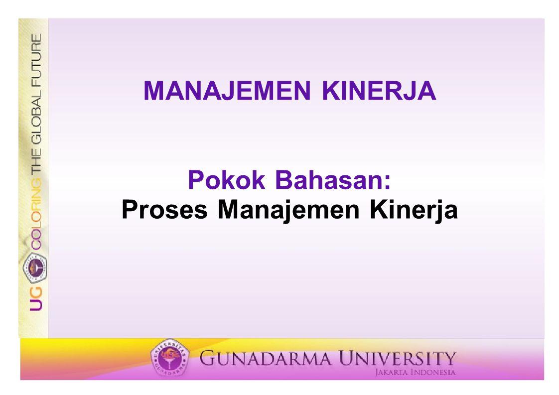 Proses Manajemen Kinerja