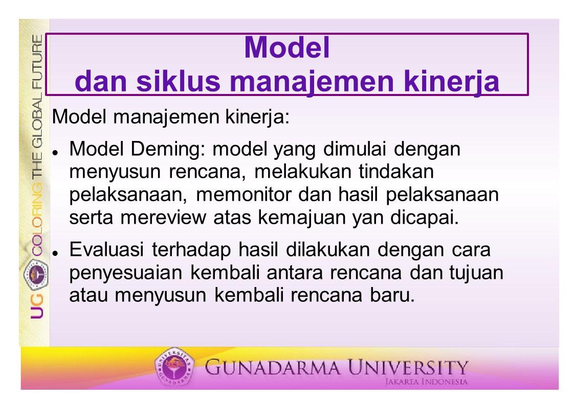 Model dan siklus manajemen kinerja