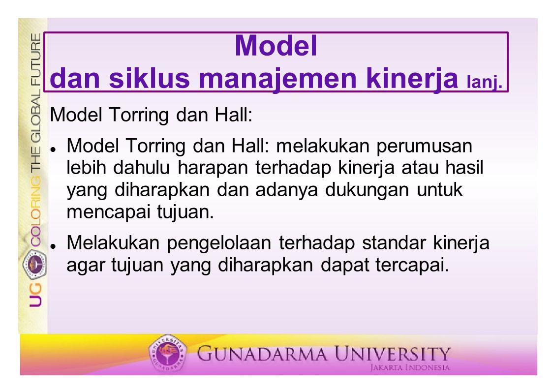 Model dan siklus manajemen kinerja lanj.