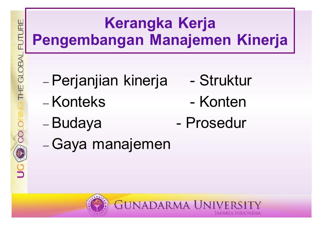 Kerangka Kerja Pengembangan Manajemen Kinerja
