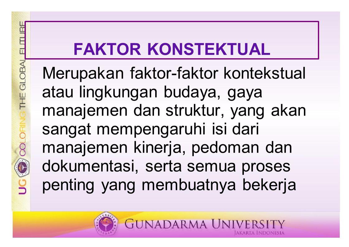 FAKTOR KONSTEKTUAL