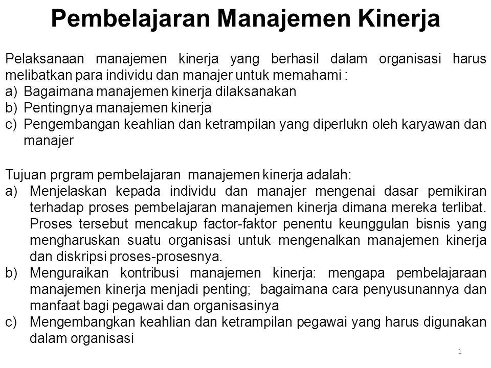 Pembelajaran Manajemen Kinerja