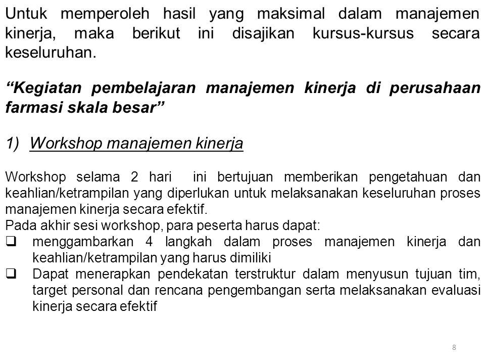 Workshop manajemen kinerja