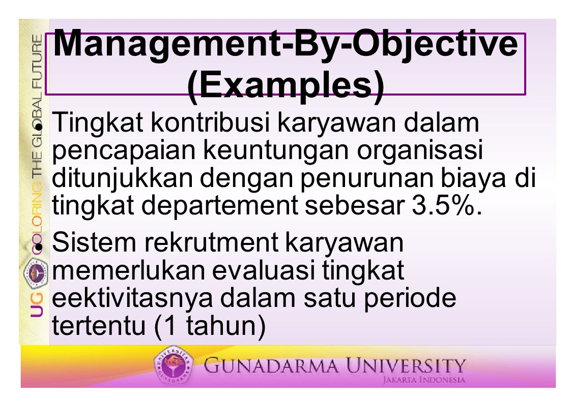 Management-By-Objective (Examples)