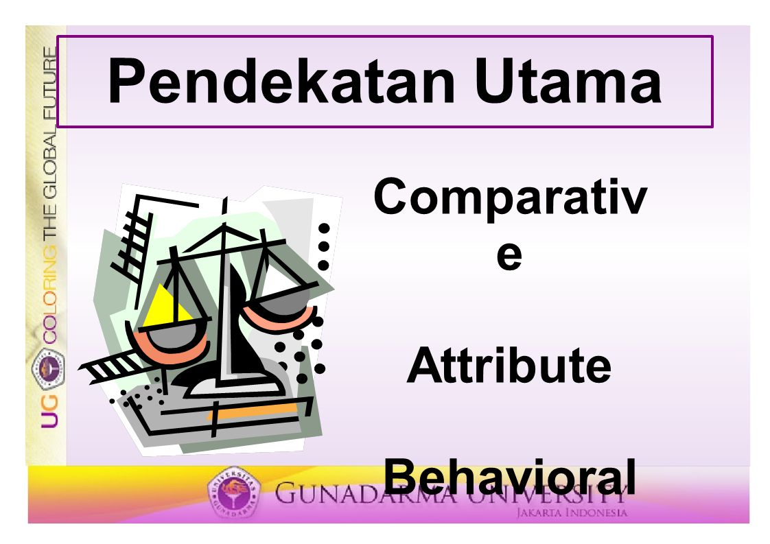 Pendekatan Utama Comparative Attribute Behavioral