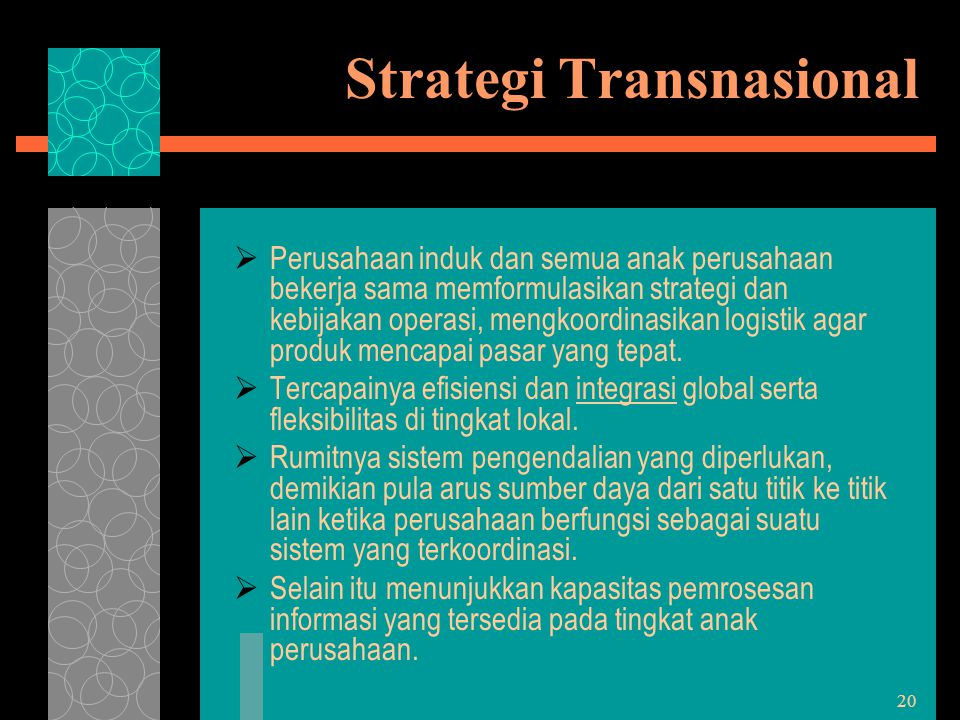 Strategi Transnasional