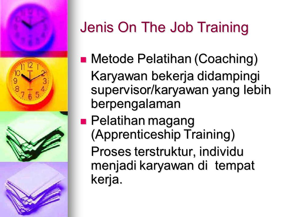 Jenis On The Job Training