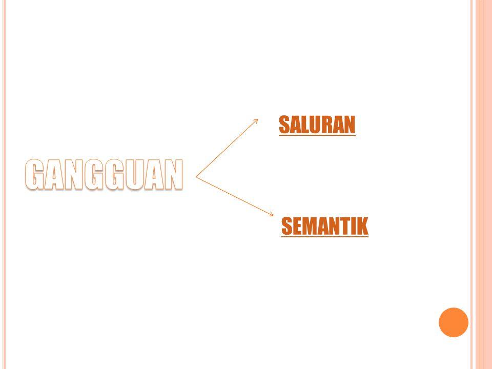 SALURAN SEMANTIK GANGGUAN
