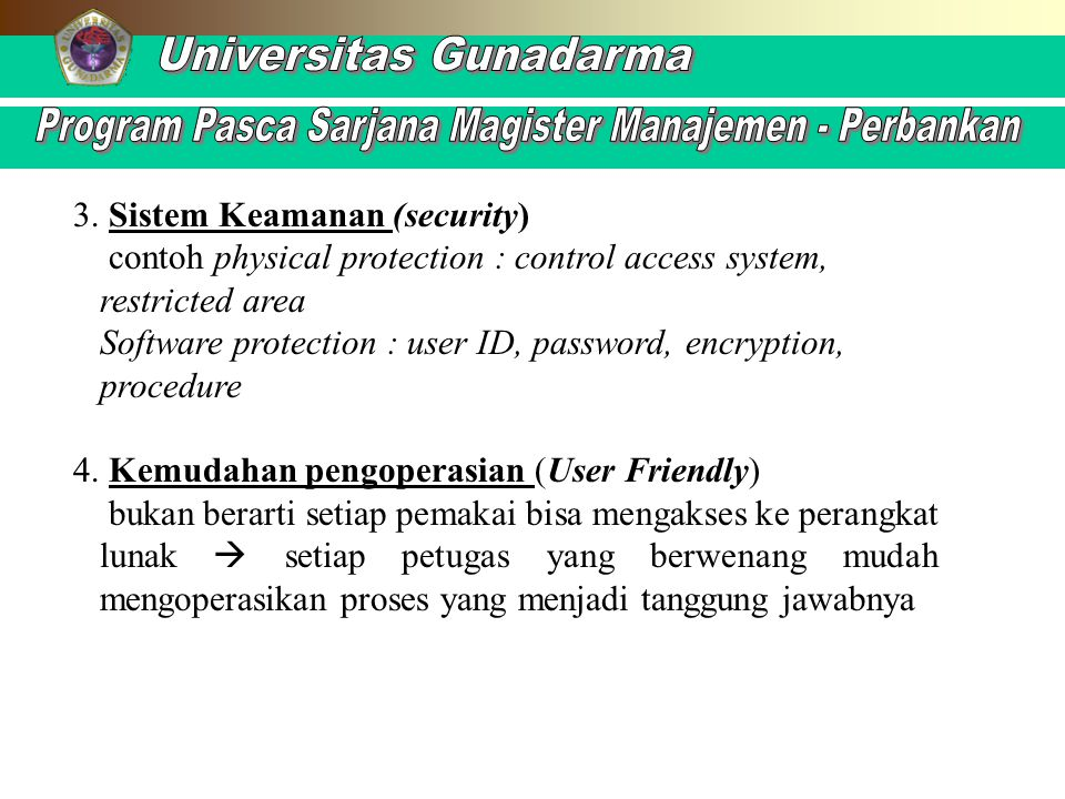3. Sistem Keamanan (security)