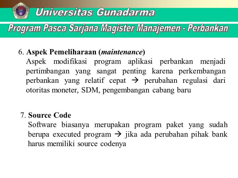 6. Aspek Pemeliharaan (maintenance)