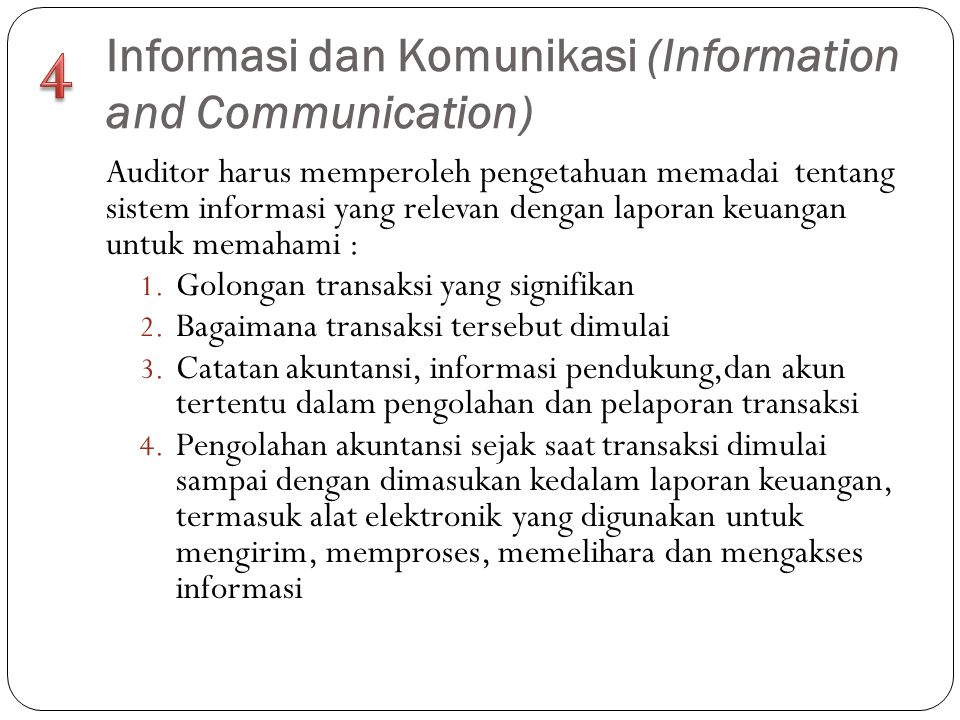 Informasi dan Komunikasi (Information and Communication)
