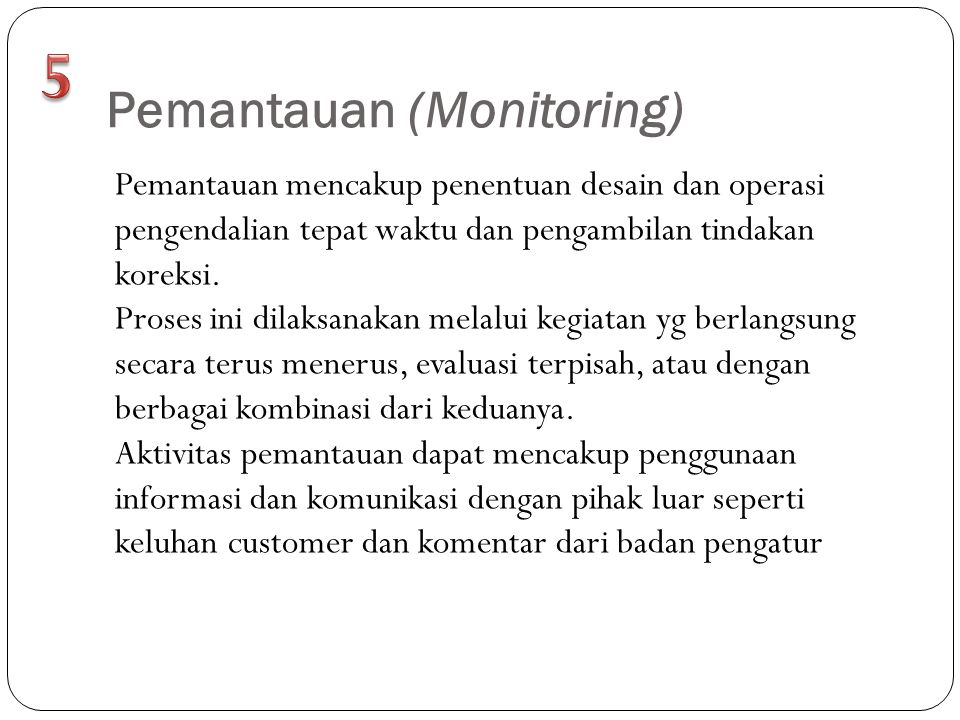 Pemantauan (Monitoring)