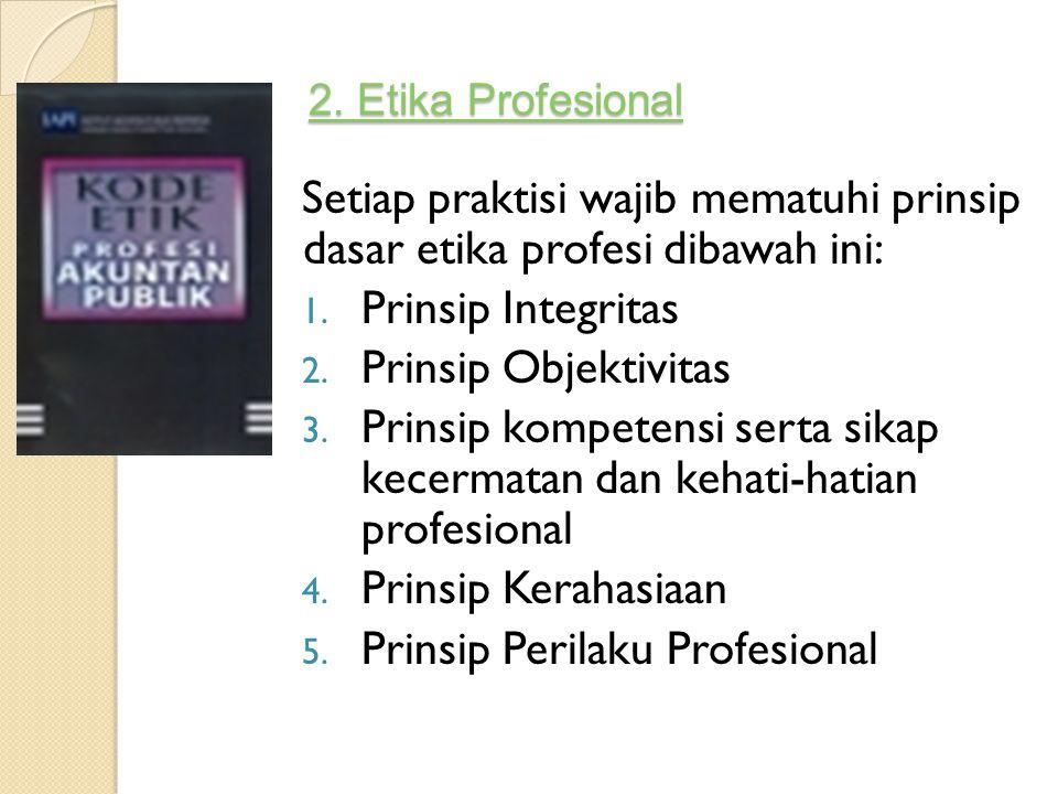 Prinsip Perilaku Profesional