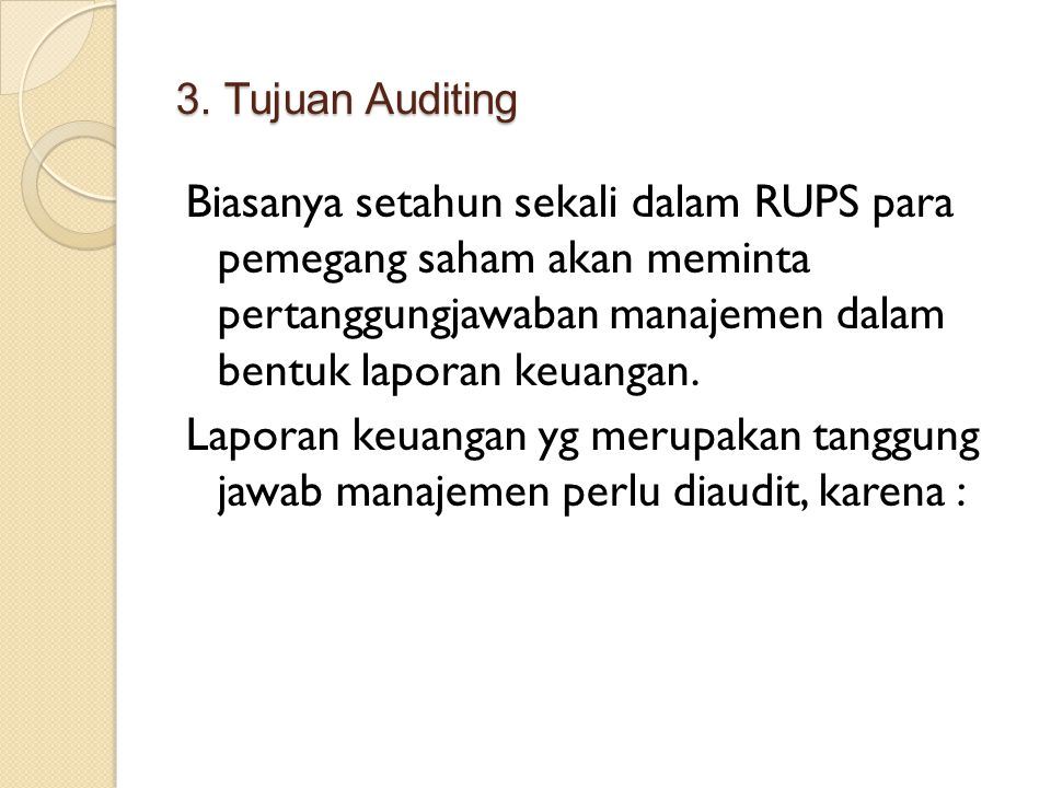 3. Tujuan Auditing