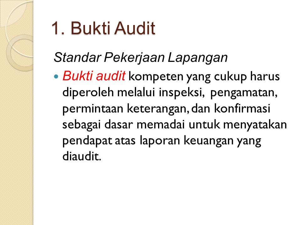 1. Bukti Audit Standar Pekerjaan Lapangan