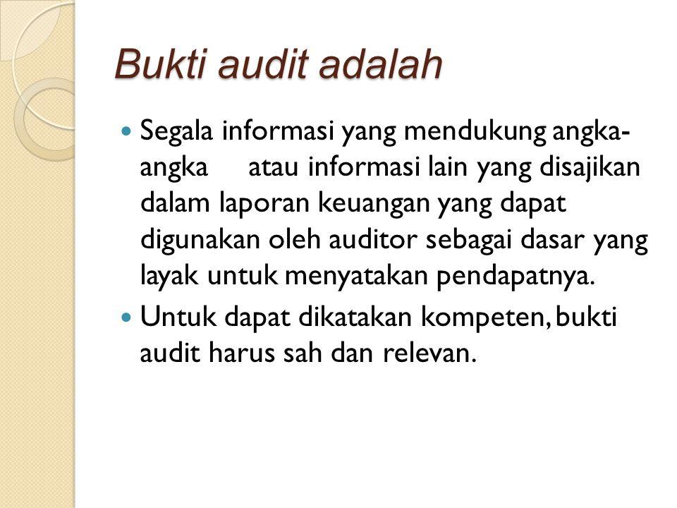 Bukti audit adalah