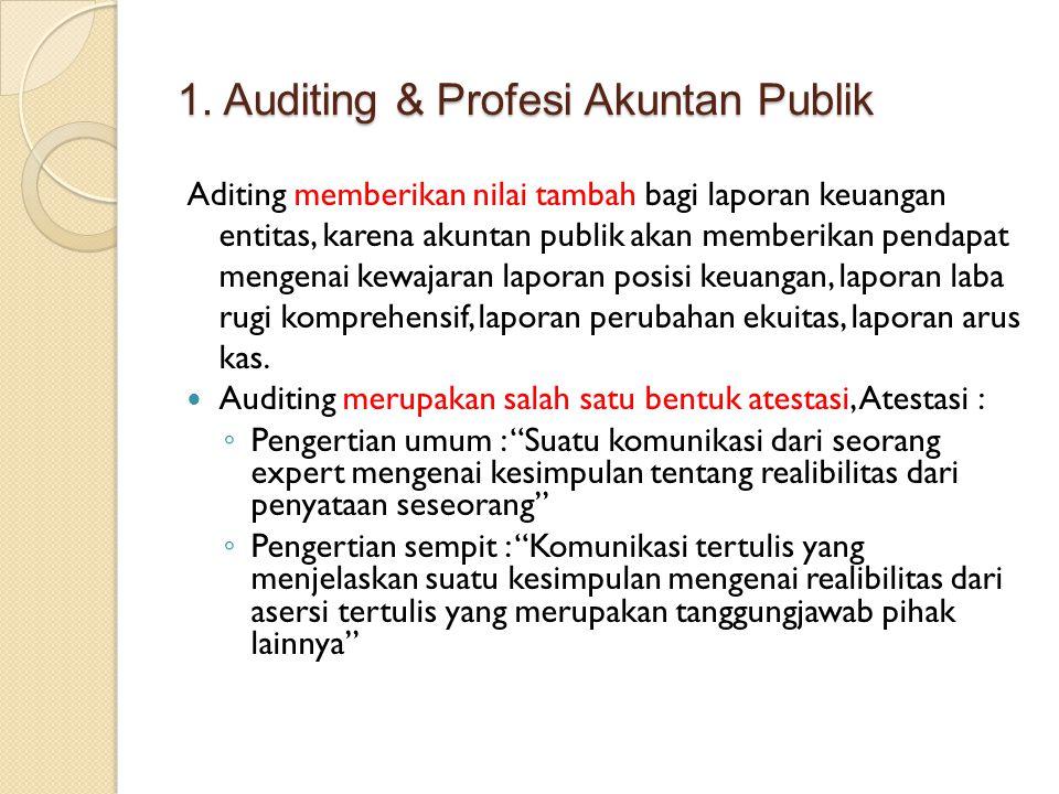 1. Auditing & Profesi Akuntan Publik