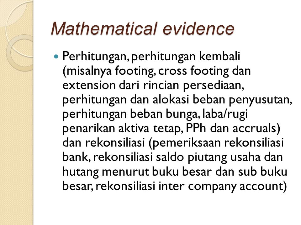 Mathematical evidence