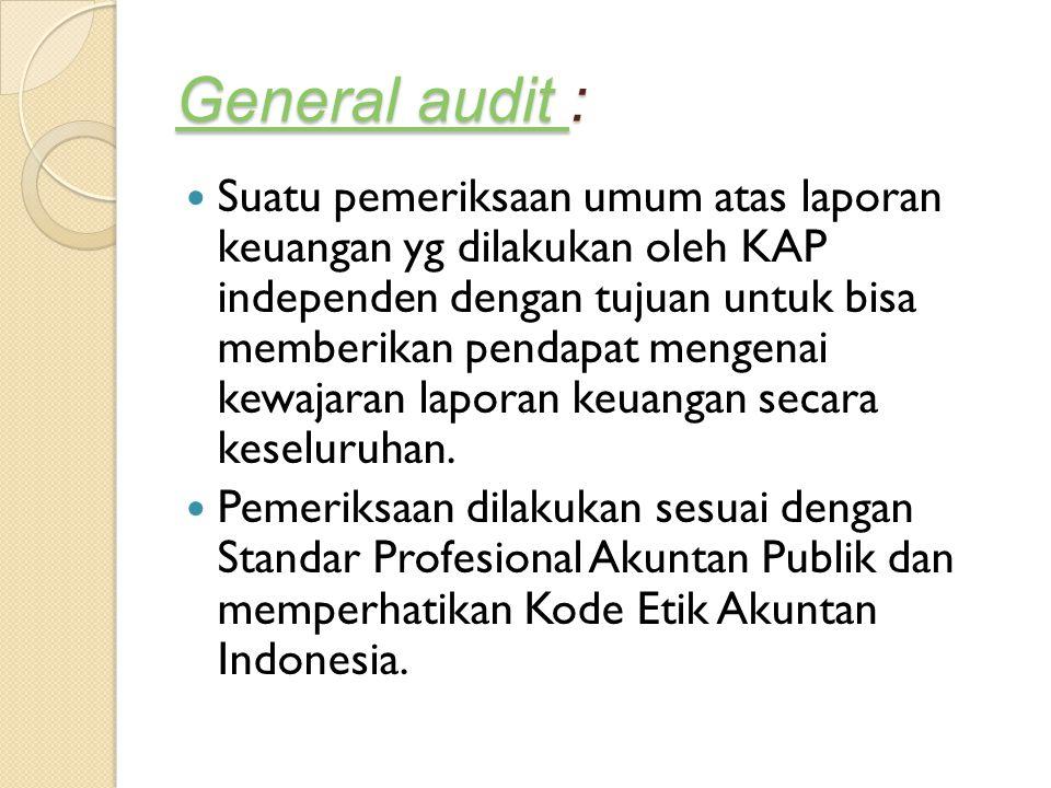 General audit :