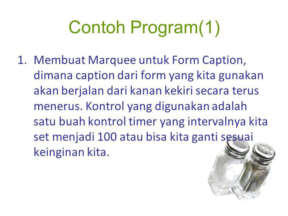 Contoh Program(1)