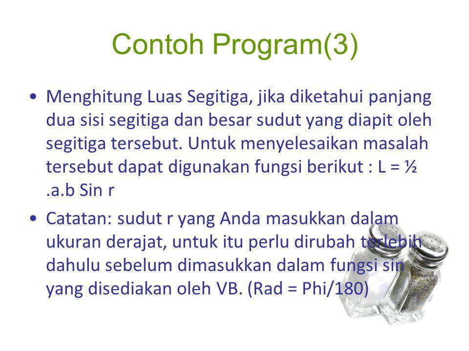 Contoh Program(3)