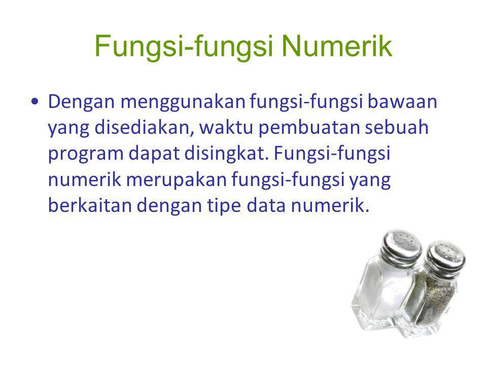 Fungsi-fungsi Numerik