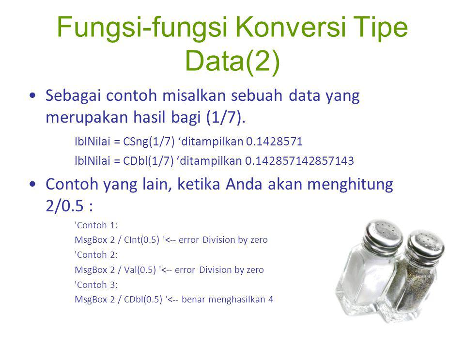 Fungsi-fungsi Konversi Tipe Data(2)