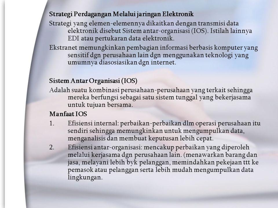 Strategi Perdagangan Melalui jaringan Elektronik