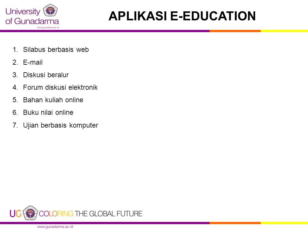 APLIKASI E-EDUCATION Silabus berbasis web E-mail Diskusi beralur