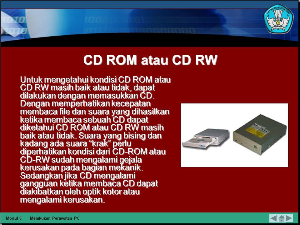 CD ROM atau CD RW