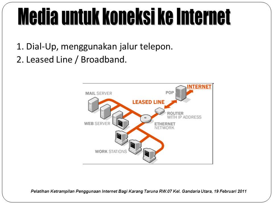 Media untuk koneksi ke Internet
