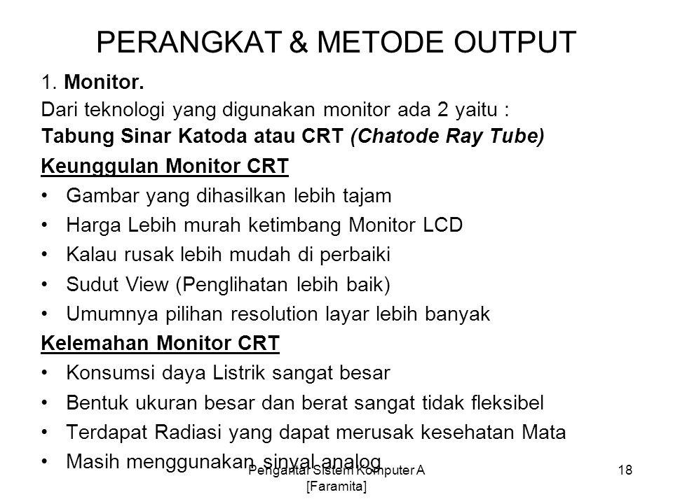 PERANGKAT & METODE OUTPUT