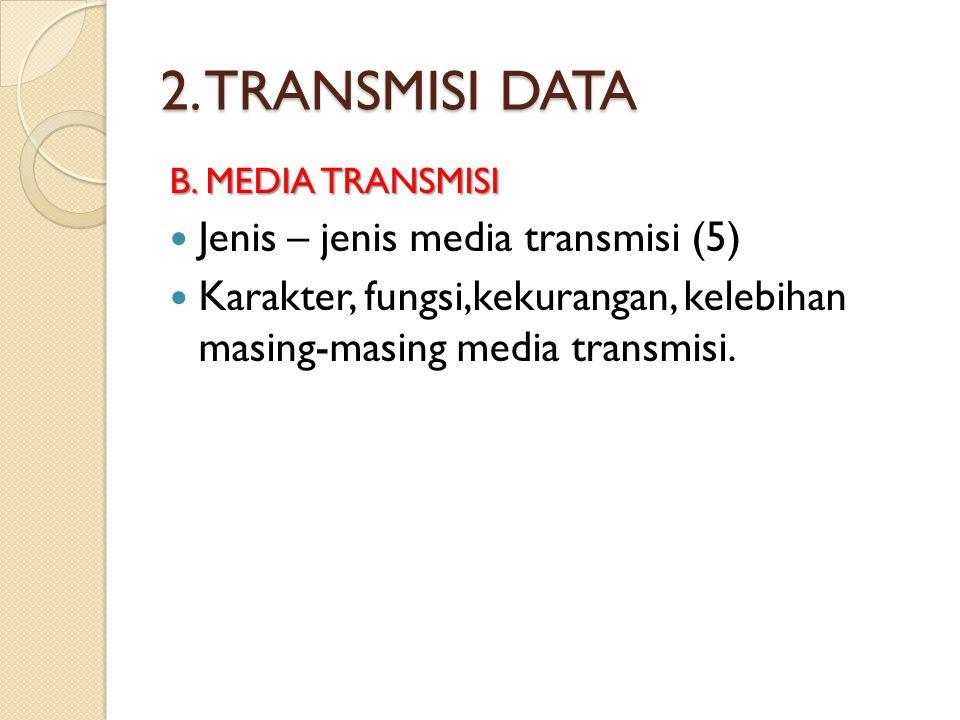 2. TRANSMISI DATA Jenis – jenis media transmisi (5)