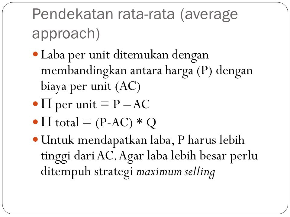Pendekatan rata-rata (average approach)