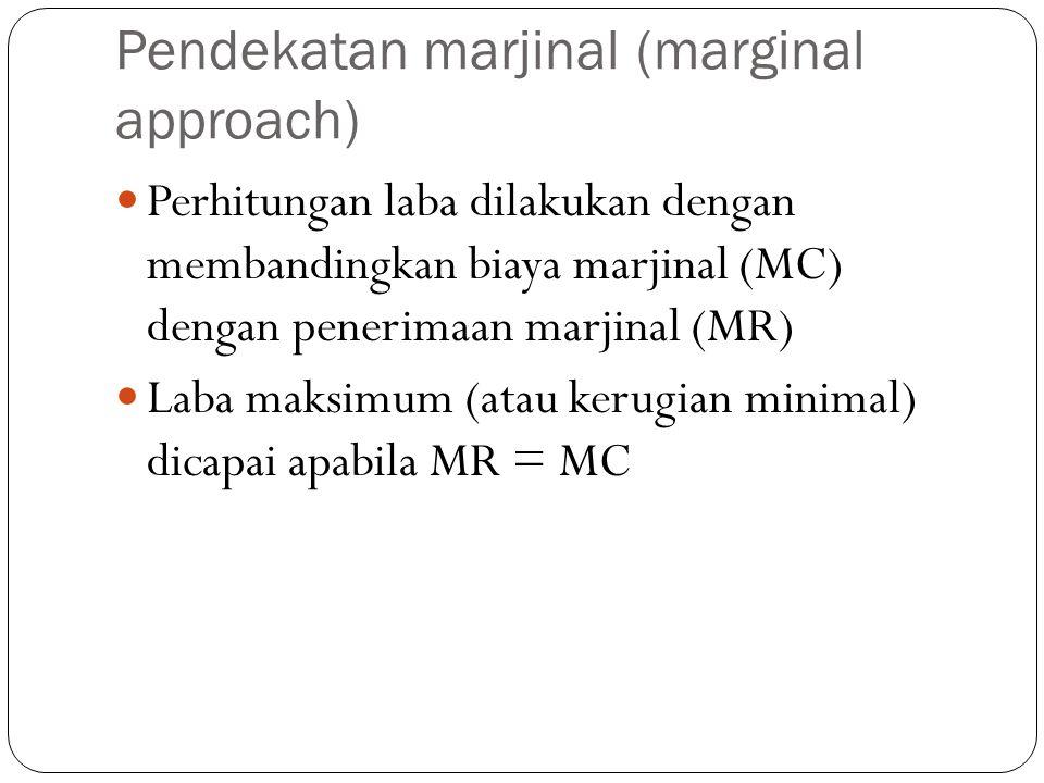 Pendekatan marjinal (marginal approach)